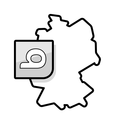 Ilustracja: mapa Niemiec z logo bett1