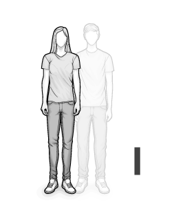 Ilustracja typu ciała I: szczupła kobieta
