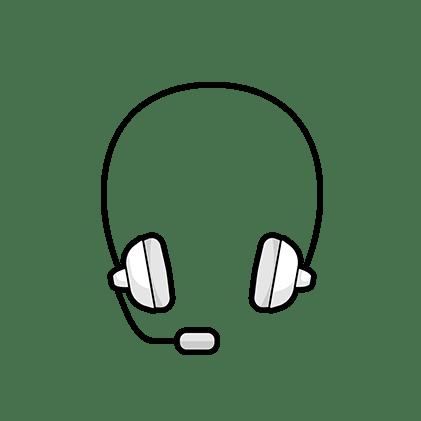 Ilustracja: zestaw słuchawek z mikrofonem
