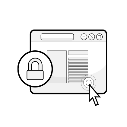 Ilustracja: okno przeglądarki z kłódką