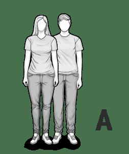 Ilustracja typu ciała A: krągła kobieta